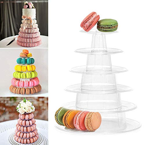 Macaron Tower - Soporte de 6 niveles para tarta de boda, cumpleaños,...