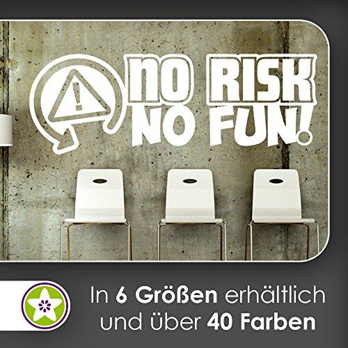 KIWISTAR No Risk No Fun - Risiko Spaß Mut Weichei Spontan Wandtattoo in 6 Größen - Wandaufkleber Wall Sticker