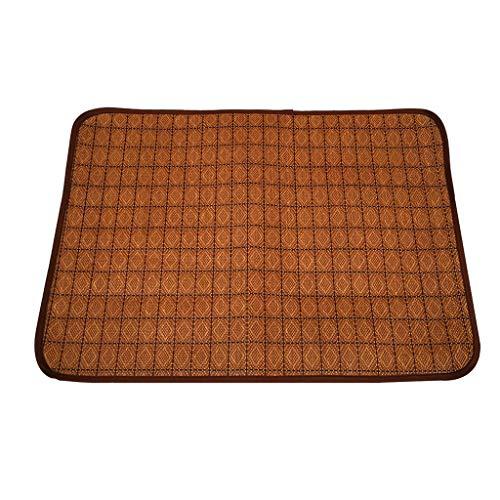 Estera de enfriamiento para Mascotas, Verano de Estera de bambú para Gatos de Perro, Disponible en Tres tamaños (Color : Brass, tamaño : S)
