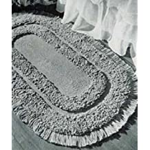 OVAL LOOP STITCH RUG - A downloadable vintage 1952 crochet pattern -- Available for Download to Kindle DX, Kindle for PC, Mac, iPhone, Blackberry, iPad, ... rugs, mat, furnishings) (English Edition)