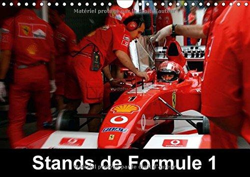 Stands de Formule 1. Les stands sont au coeur de la course automobile en Formule 1 : Calendrier mural A4 horizontal 2017