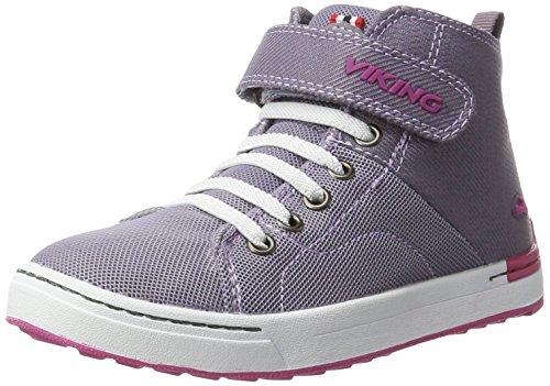 Viking Unisex-Kinder Frogner Mid Outdoor Fitnessschuhe Violett (Grey/Magenta)