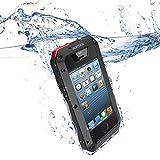 Aursen® iPhone 4/4S coque - housse etui étanche/ imperméable résistante aux chocs et à la poussière pour smartphone iphone 4/4S (Noir)