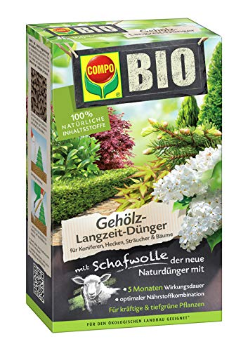 Compo Bio Gehölz-Langzeit-Dünger mit Schafwolle, 2 kg + Buchsbaum- und Ilex Grün für alle Buchsbäume + Algenkalk für Buchsbäume + Buchsbaumzünsler-Falle + Buchsbaumzünsler-Falle Nachfüllpack