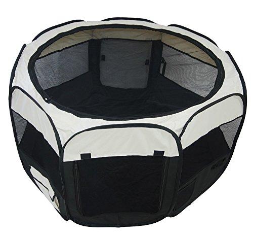 Schwarzer Tierlaufstall – Welpenauslauf für innen oder außen – einfach aufzubauen - 2