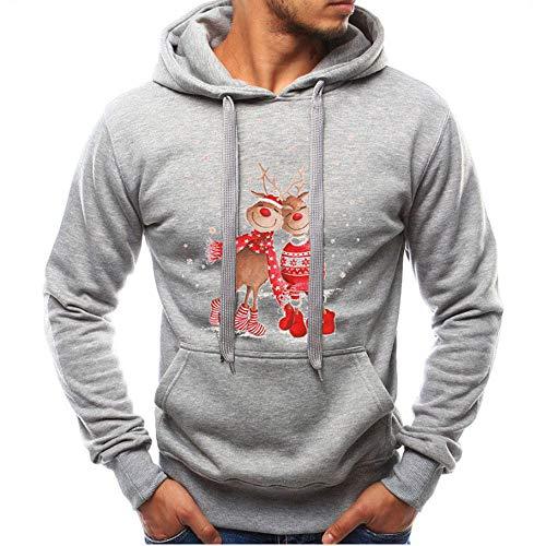 LANSKIRT Herren Langarm Herbst Winter Weihnachten Lässige Sweatshirt Hoodies Trainingsanzüge