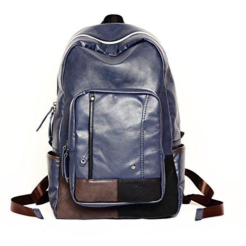 Wandern Rucksäcke, Taschen, Wander-Taschen, Outdoor-Taschen, wasserdicht Student's Tasche Männer Rucksack Tasche Tasche Blue