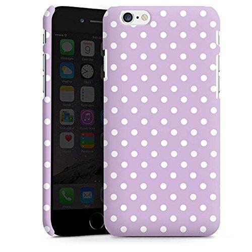 Apple iPhone X Silikon Hülle Case Schutzhülle Punkte Flieder Polka Premium Case matt
