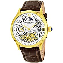 Stührling Original 571.3335K2 - Reloj analógico para hombre, correa de cuero, color marrón