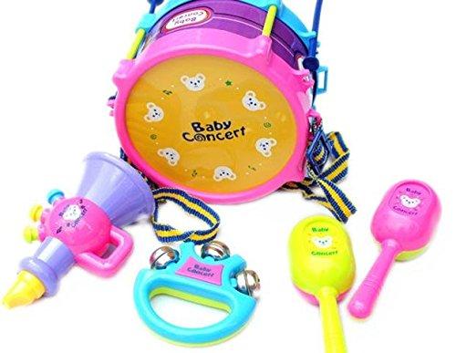 Puzzle Dekompression Spielzeug,ALIKEEY 5 stücke Kinder Baby Roll Drum Musikinstrumente Band Kit Kinder Spielzeug (Puzzle-stück Band)
