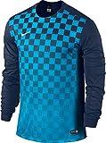Nike Kinder Jersey Precision III LS, Light Blue/Dark Blue, XL, 645910-410