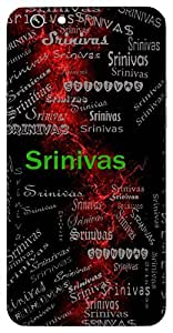 Srinivas (Abode Of Wealth) Name & Sign Printed All over customize & Personalized!! Protective back cover for your Smart Phone : Moto G-4