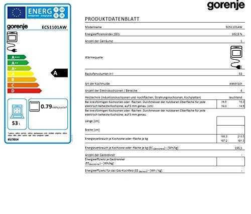 Gorenje EC 51101 AW Elektro Freistehender Herd - 3