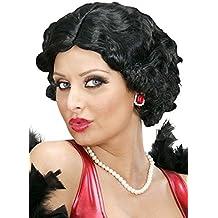 Magic Box Peluca Estilo Negro Rizado Betty Boop para Mujer