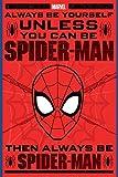 Laminiert Spiderman Always Be Yourself Maxi Poster 61 x 91,5 cm