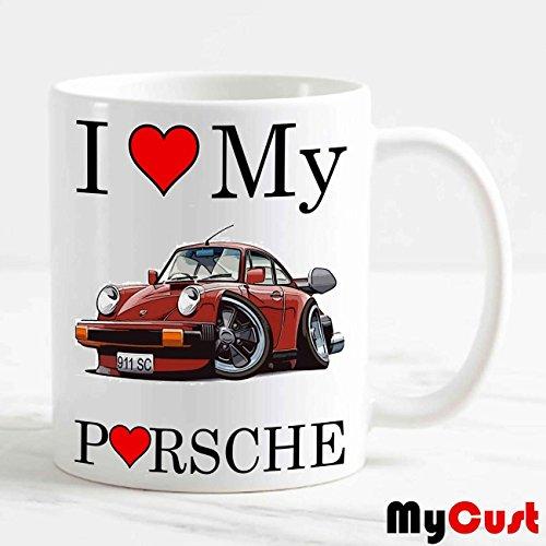csm Informatica Tazza Mug Auto Moto Personalizzabile I Love My Porsche