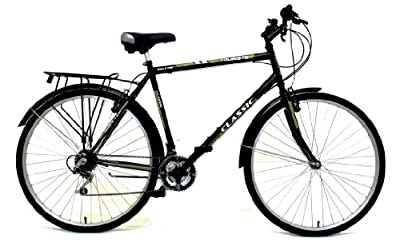 Classic Men's Touriste Commuter Bike - Black ( Wheel 700C, Frame 22 Inch)