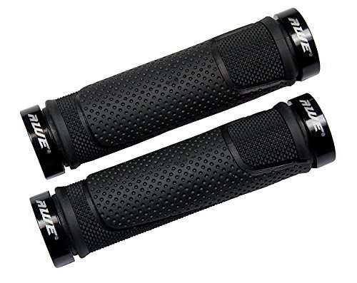 AWE® AWEGripTM Lega MTB BMX Bicicletta Manubrio, manopole di bloccaggio (Nero)