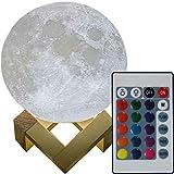 3D Mond Lampe 20cm mit Fernbedienung erhältlich in zwei verschiedenen Durchmesser (15 oder 20cm) Mondlampe Mondleuchte, 16 Farben, dimmbar, viele Funktionen, deutsche Bedienungsanleitung.