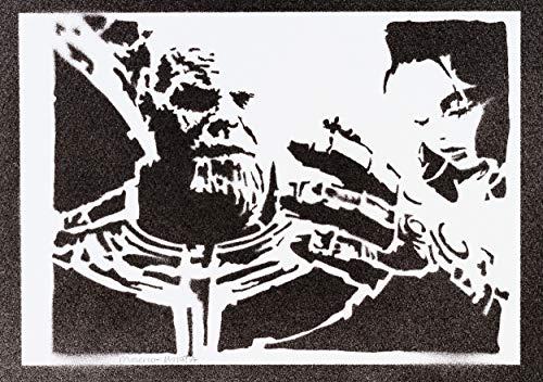 Póster Thanos Los Vengadores Grafiti Hecho A Mano - Handmade Street Art - Artwork