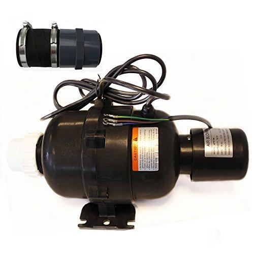 Heizgebläse 230V 700W mit integriertem Druckwellenschalter, Luftsprudel für Whirlpool, Badezuber mit Anschluss 50mm