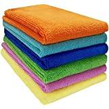 Sheen 330 GSM Proper Weight Microfiber Vehicle Wash and Dry cloth (40x40 cm) - Pack of 6