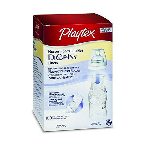 Playtex Flasche Liners drop-ins–4Oz–100Stück (Verpackung kann variieren) (6Stück)
