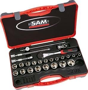 """Sam outillage - 75-SH25 - Coffret 1/2"""" de 25 outils en mm"""