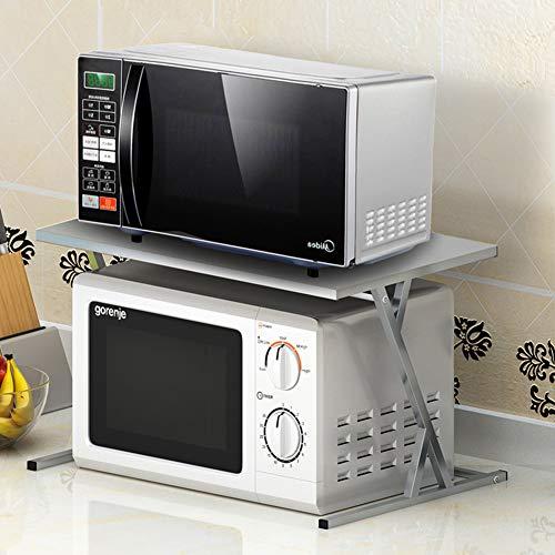WMLD Edelstahl Küche-Rack,Anti-rutsch Double Layer Mikrowelle,Reis Kocher Doppelofen-Rega