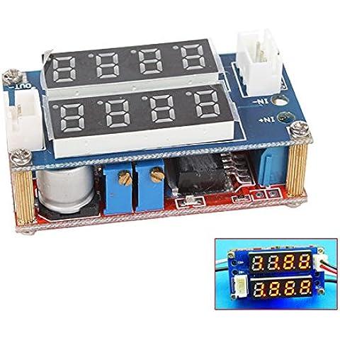 WEONE 5A 5V-30V Dual Display agli ioni di litio LED Azionamento corrente costante / tensione del modulo di alimentazione Charge - Modulo Di Ingresso Di Alimentazione