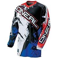 0016r de 10 ONeal Element Jersey RACEWEAR Noir Blanc Maillot de Cyclisme Moto Cross Downhill Moteur DH MX