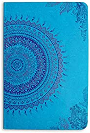 Doodle Ethnic Motif Hard Bound Undated A5 Diary Notebook (5.5 X 8.5 Inches, 80 GSM, 200 Ruled Perforated Pages