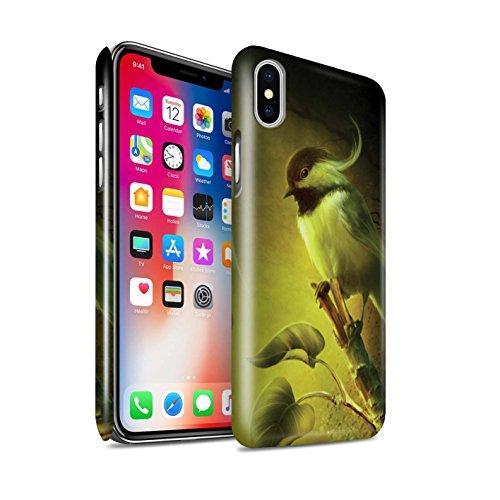 Officiel Elena Dudina Coque / Clipser Brillant Etui pour Apple iPhone X/10 / Oiseaux Libres/Vitrail Design / Les Oiseaux Collection Confiance