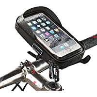Soporte Funda Movil Bicicleta, Ziroom Bolsa Bici Impermeable, Funda Móvil Soporte de Bici Manillar Con Rotación 360 para Ciclista Ciclismo Con pantalla táctil, Impermeable Funda Soporte para Móvil inferior de 6.0 inches