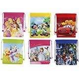 Parteet New Cartoon Printed Haversack Bags - Pack Of 12 For Birthday Party Return Gifts For Kids
