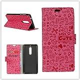 Funda® Capirotazo Billetera Funda para WIKO VIEW XL (Rosa Roja)