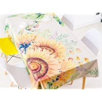 Yter Hermoso Hogar Sala de Estar Refrescante Impresión Mantel Girasol Tela Arte Mesa de café Cubierta