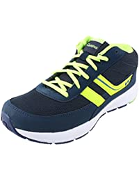 Action Campus Men's Navy Blue Fluorescent Green Synthetic And Nylon Mesh Sports Shoes