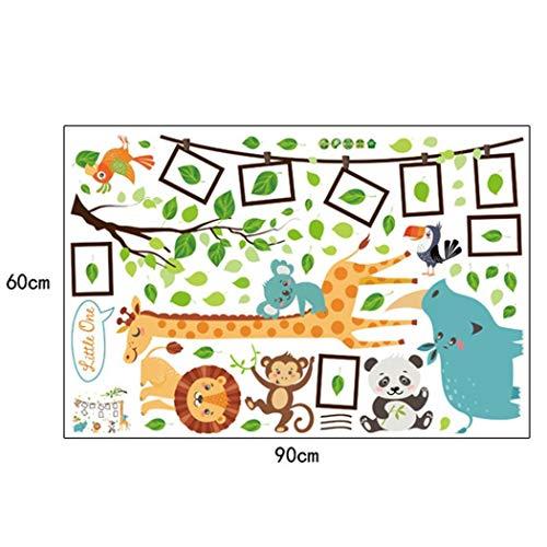 iloits Kinderzimmer Kinderzimmer Dekoration Multicolor Bilderrahmen Cartoon Giraffe Wandaufkleber Wandtattoos & Wandbilder