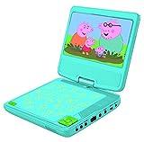 Peppa Pig Lexibook DVDP6PP - Lettore Dvd Portatile, Design Famiglia, con Presa USB, Blu/Giallo