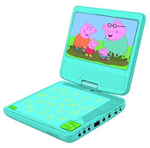 Lexibook Lecteur DVD portable Peppa Pig, avec port USB, Bleu/Jaune, DVDP6PP