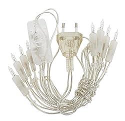 VBS Mini-Lichterkette 10er Lämpchen mit Schalter transparentes Kabel 10er, transparent