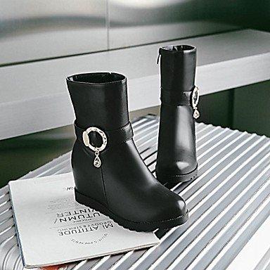 DESY Da donna Stivaletti Comoda Innovativo Stivali Primavera Inverno Finta pelle Casual A pois Zeppa Bianco Nero Grigio 5 - 7 cm black