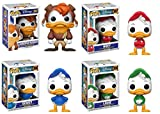 Funko POP! Duck Tales: Launchpad McQuack + Huey + Dewey + Louie - Darkwing Duck Vinyl Figure Set NEW