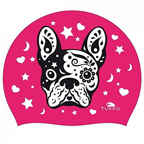 TURBO Badekappe PERRITO Hund aus Silikon pink