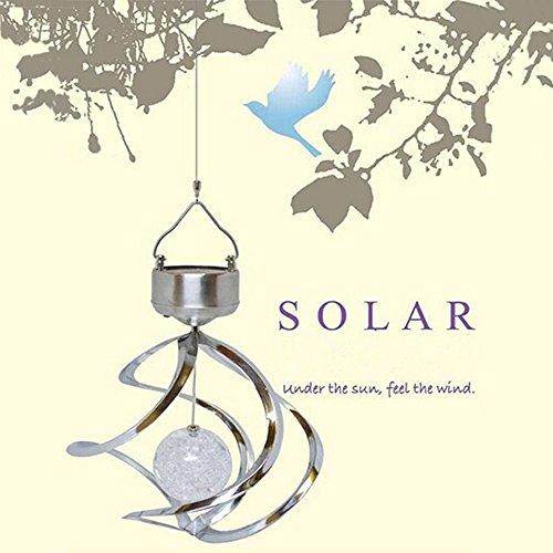 Solar Powered LED Windspiele Windspiel, Aussen, Garten, Hof,