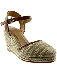 Nero 38 EU Angkorly Scarpe Moda Sandali Mules con Cinturino Alla Caviglia 2n1