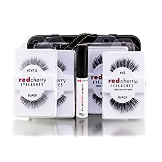 Red Cherry Wimpern 2x Nr. 43, Nr. 2x 747S und Eyelash Adhesive SET
