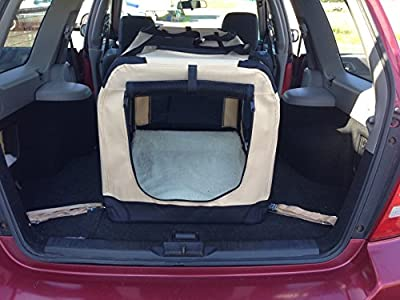 Dog Cage Crate Lightweight + Portable XXL 91cm x 65cm x 65cm Vehicle Isofix anchor points for the ultimate in safety. Free reversible fleece liner.