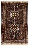Morgenland Afghan BELUTSCH Teppich 112 x 70 cm Blau Handgeknüpft Orientalisch